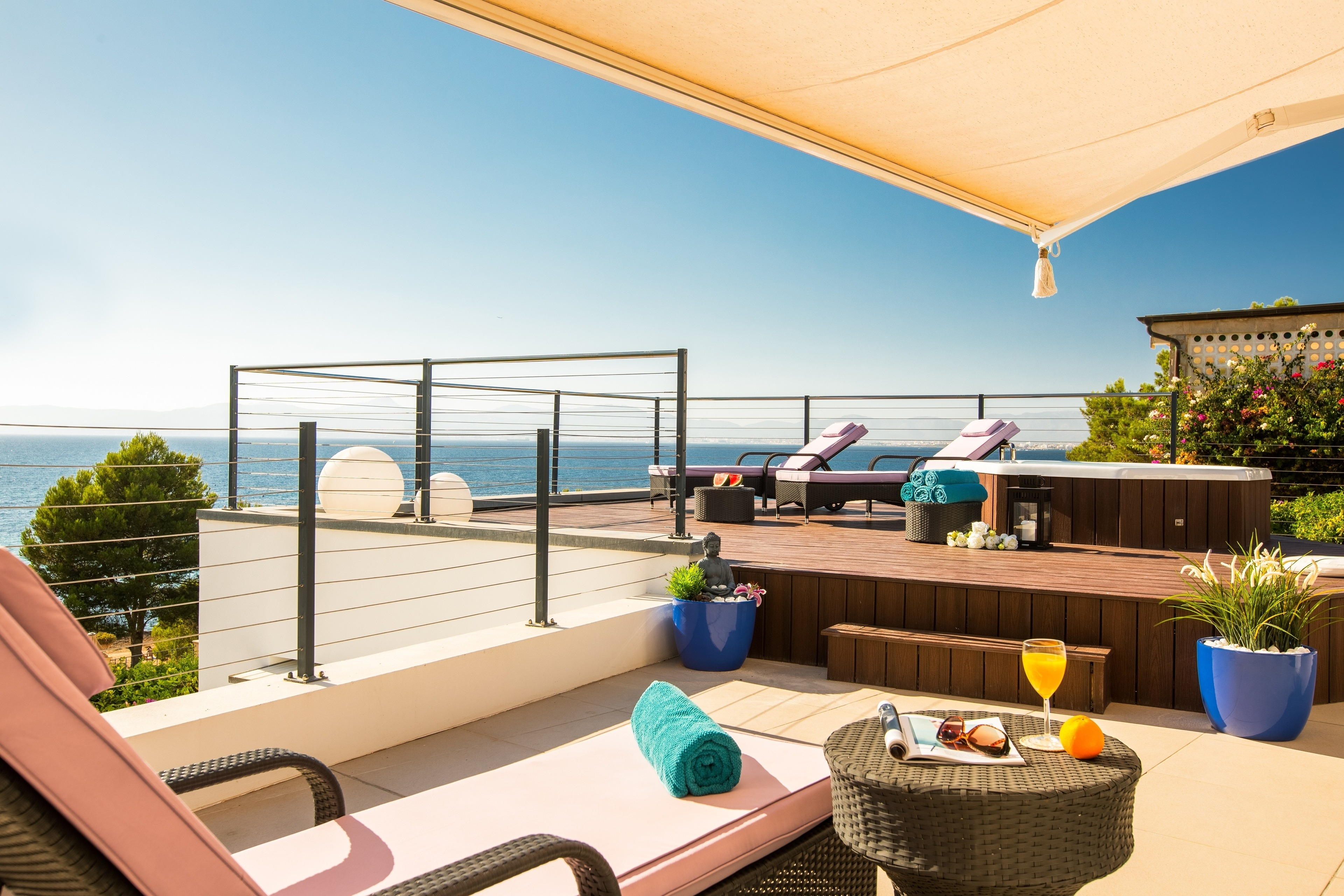Casa Pura - Luxuriöses Ferienhaus mit Meerbli Ferienhaus in Spanien