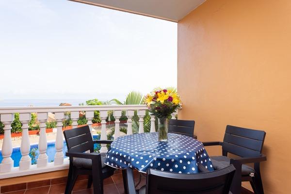 Appartement de vacances Fewo Playamar Romantico, Nähe Strand, toller Meerblick, 2 Schlafzimmer, 2 Terrassen, Pool, (2492988), Puerto de la Cruz, Ténérife, Iles Canaries, Espagne, image 5