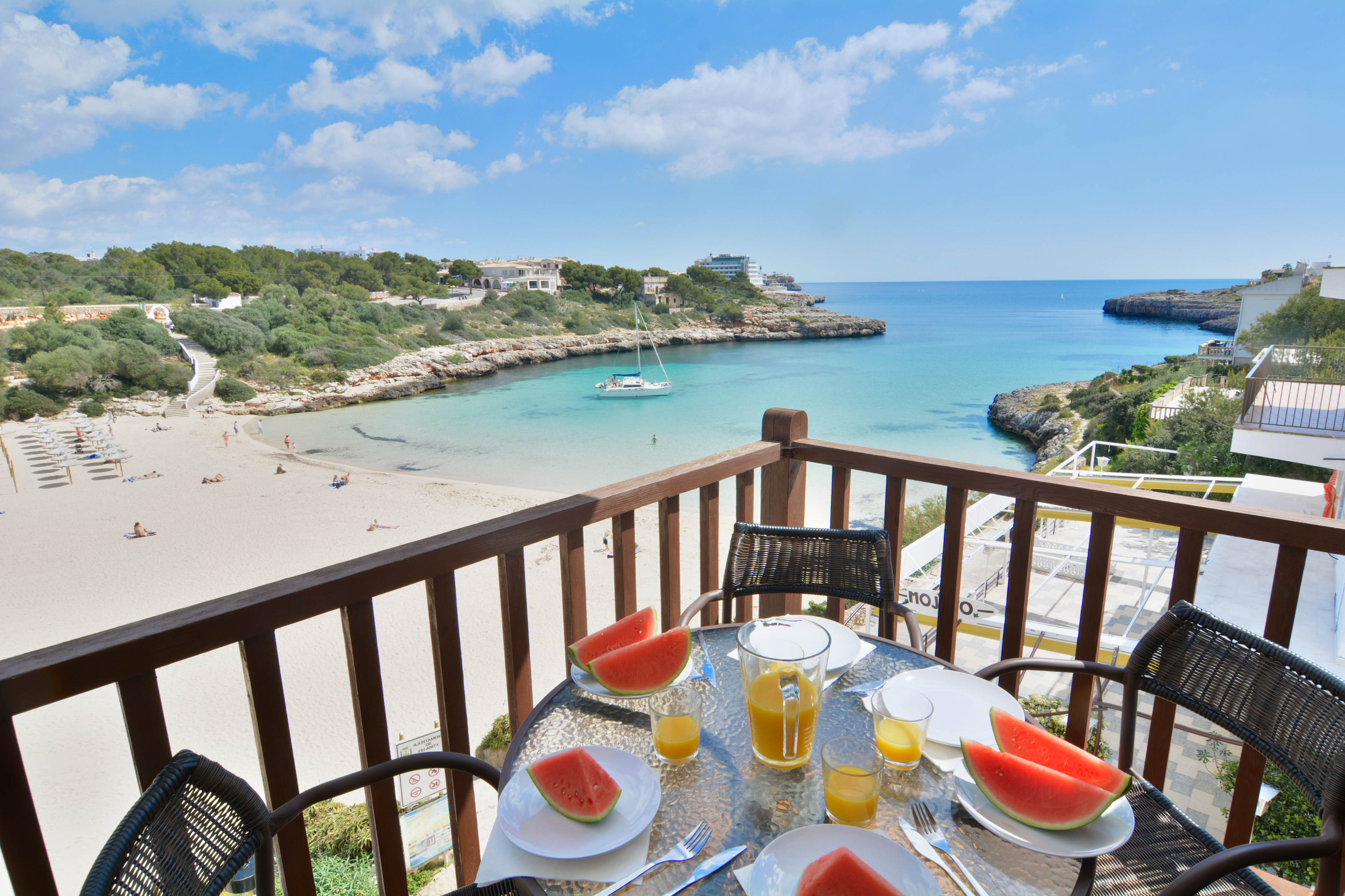 Mallorca front line beach apartment with terrace